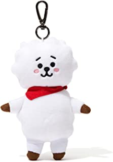 BT21 Official Merchandise by Line Friends - RJ Character Doll Keychain Ring Cute Handbag Accessories
