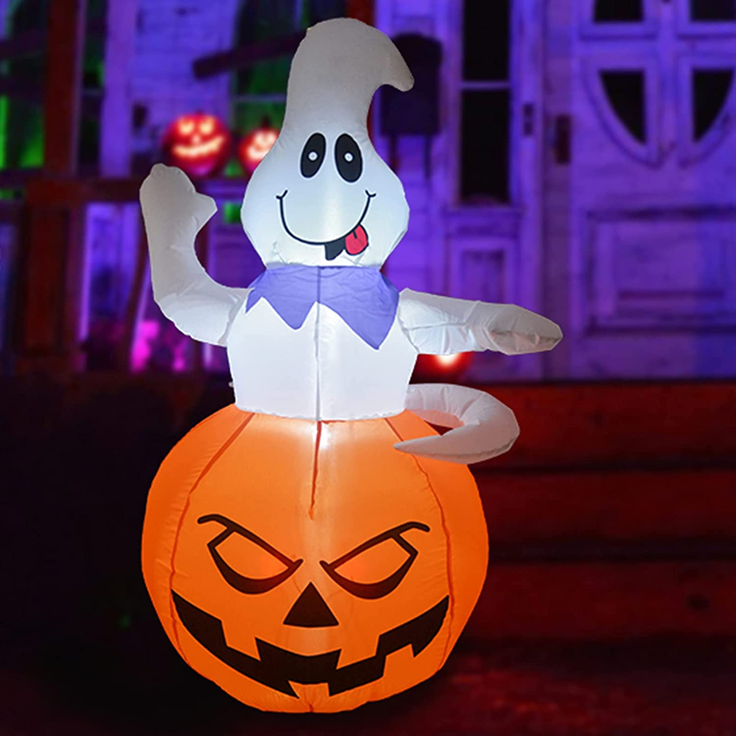 GOOSH 5 OFFicial site FT Limited price sale Height Halloween Inflatables Ghost Outdoor f Out Grow