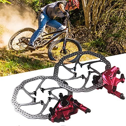 SOWLFE Mountainbike Fahrrad Hydraulische Scheibenbremse, Zoom HB-100 Line Pull Vorne Hinten Öldruckscheibenbremse, Ölscheibenbremse Gerät