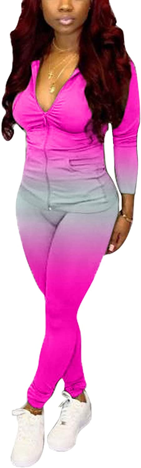 ECHOINE Womens Tracksuits 人気ブランド多数対象 Set Two Piece 物品 + Top Outfits Skinny Lon