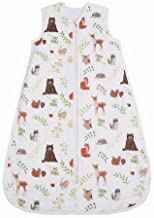 CHILDREN'S GANG Baby Sleeping Bag, Cotton Wearable Swaddle Blanket for Newborn 0 to 6 Month (Little Bear)