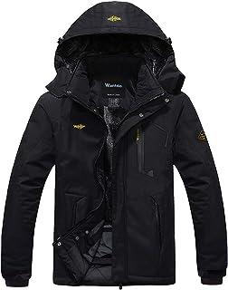 Men's Mountain Waterproof Ski Jacket Windproof Rain Jacket Winter Warm Snow Coat