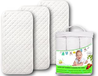 Premium Changing Pad Liners | Waterproof Antibacterial & Hypoallergenic | Machine Wash & Dry | Reusable Bamboo Softest Cha...