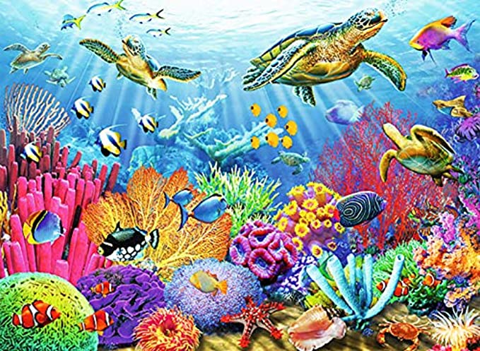 Ravensburger Tropical Waters 500 Piece Jigsaw Puzzle for Adults