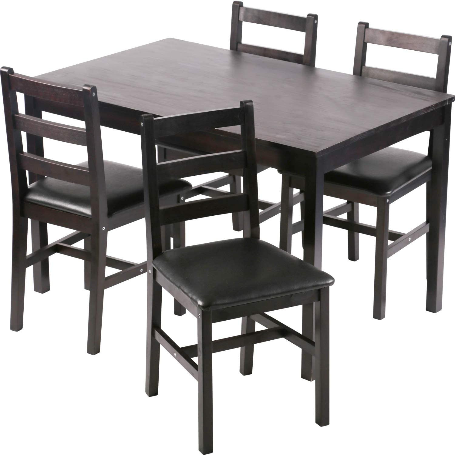 Best For wide use: Kitchen Table and Chairs for 4 Dining Room Table Set