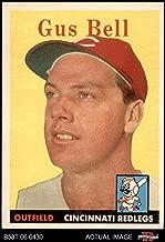 1958 Topps # 75 Gus Bell Cincinnati Reds (Baseball Card) Dean's Cards 4 - VG/EX Reds