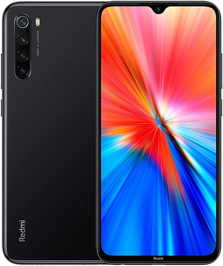 Xiaomi Redmi Note 8 2021 Smartphone,4GB RAM+64GB ROM,Pantalla 6.3'' FHD+ Dot Drop,MediaTek Helio G85 Octa-Core,cámara cuádruple AI de 48MP y cámara Frontal de 13MP (Negro)
