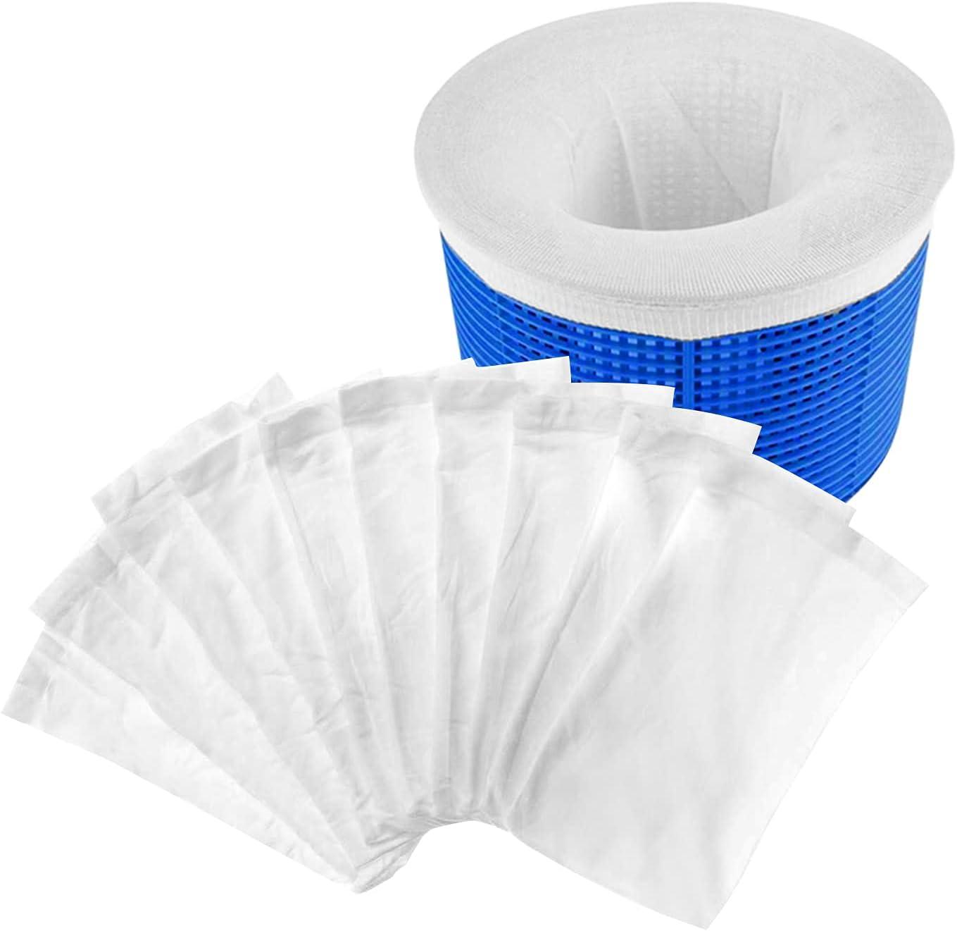 10 Piezas Calcetines Skimmer Piscina, Pool Skimmer Socks,Calcetines Protectores para Filtros ,Calcetín que se Puede Reutilizarde Piscina para escoria de aceite de Hoja, Espuma, Polen, Insectos