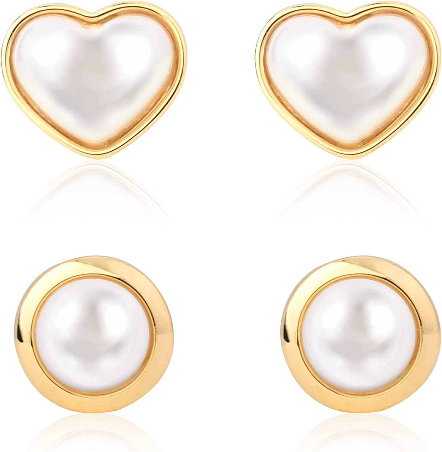 Cecillia Pearl Earrings Ranking TOP18 Sale special price for Imitation Women Round Earring