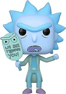 Funko Pop. Animación: Rick & Morty - Clon de Holgram Rick, brilla en la oscuridad, exclusivo de Amazon