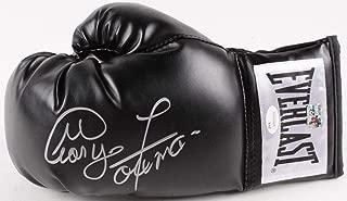George Foreman Signed Autographed Black Boxing Glove GF HOLOGRAM - Left - JSA Certified - Autographed Boxing Gloves
