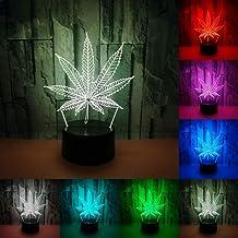 RUMOCOVO® Esdoorn Blad 3D Nachtlampje LED Touch Schakelaar 3D Lamp USB 7 Kleuren Veranderende Tafellamp Creatieve Speelgoe...