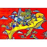 ホエールハウスモダンポスターウォールアートピクチャーキャンバスポスターとプリントHDプリント油絵壁画リビングルーム家の装飾フレームレス絵画
