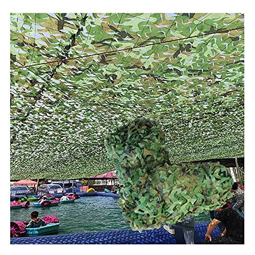 ASDQWER Tarnnetz, Tarnung Net,Camouflage Net, Leichter Wasserdichter Für Sonnenschirm, Baldachin, Partydekoration, Jagdblind- Und Auto-Fahrzeugabdeckung,6 * 6m(19.69 *...