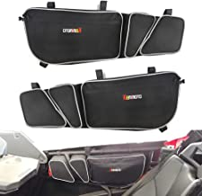 X3 Door Bags for 2017 2018 2019 Can Am Maverick X RS DS Max Turbo R Left and Right Side UTV Storage Bags with Knee Pad