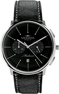 Mondia Italy Madisson Chrono Mens Analog Japanese Quartz Watch with Leather Bracelet MI751-3CP