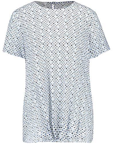 Gerry Weber Damen 1/2 Arm Bluse Mit Minimaldessin Figurumspielend Offwhite-Blue-Navy 44