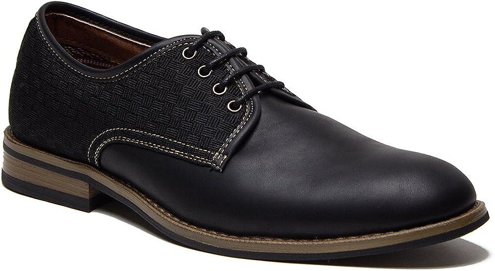 Men's 19530L Designer Woven Damier Checkered Dress Oxfords Shoes