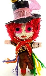 Mad Hatter Voodoo String Doll Key Chain Handmade Alice In Wonderland