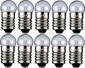 10er Set Breitlinsen Birne Glühbirne Fassung E10 Ersatzlampe