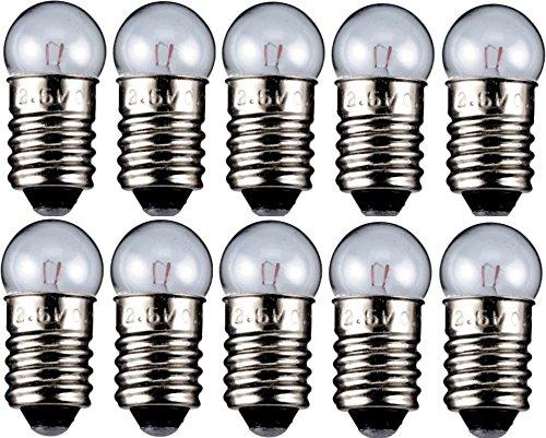 10er Set WireThinX Kugelförmige Lampe 0,6 W, 6,0 V - Sockel E10-11,5 x 24 mm - L3
