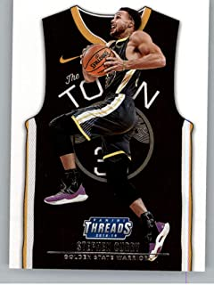 2018-19 NBA Threads Statement SP #214 Stephen Curry Golden State Warriors Official Panini Retail Basketball Card