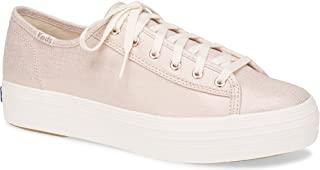 Keds Women's Triple Kick Metallic Linen Sneaker