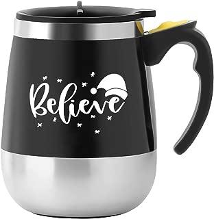BINE Self Stirring Mug Auto Self Mixing Stainless Steel Cup for Coffee/Tea/Hot Chocolate/Milk Mug for Office/Kitchen/Travel/Home -450ml/14oz (Believe)
