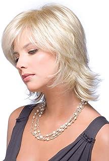 女性レディホワイトショートストレートヘアウィッグ耐熱合成かつらハロウィンパーティーファンシードレス (色 : 白)