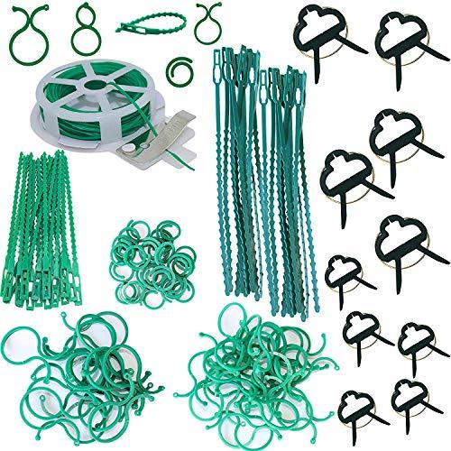 Bosrahl Garden Plant Tie Set, Plant Lock Tie, Plant Binding Tie, Gardening Plant Clips, Twist Tie, Plant Ring, 121 Piece Variety Pack