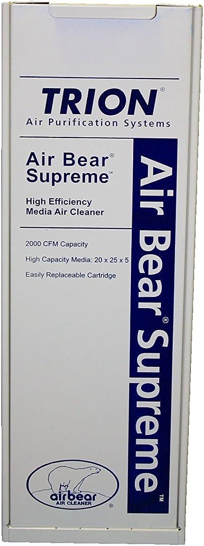 Trion 455602-025 Air Purifier Filter, 20 x25 x5 , Bear Supreme Series, 2000 CFM - MERV 8