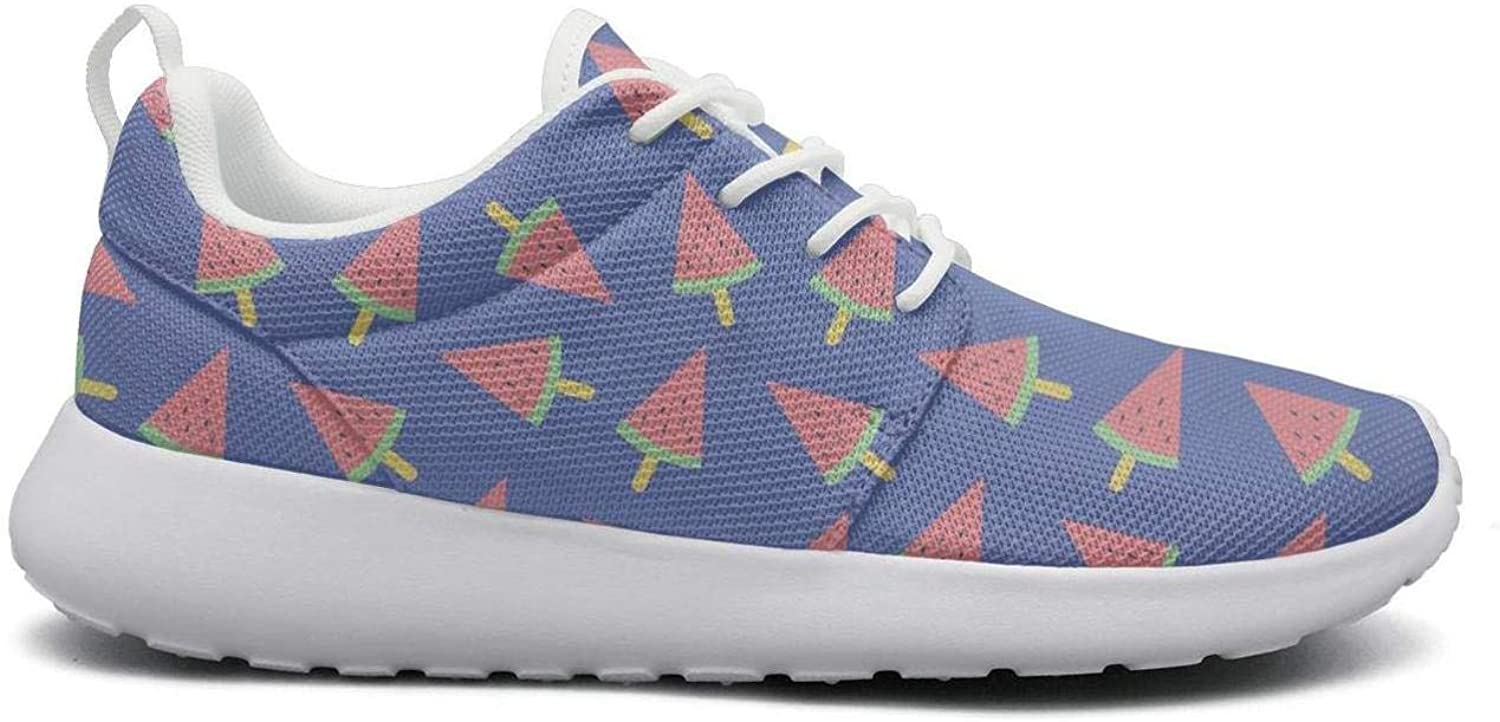 Gjsonmv Watermelon Ice Cream Funny bluee mesh Lightweight shoes for Women Casual Sports Trail Running Sneakers shoes