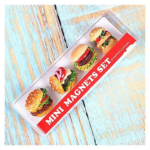 YSJJWDV Imanes para Nevera Imán de refrigerador de Pasta 3D, Etiqueta de Mensaje magnética de Dibujos Animados,  Decoración Creativa de la Personalidad Linda para refrigerar (Couleur : Hamburger)