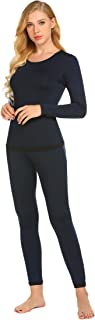 Goldenfox Women's Thermal Set Top & Bottom Fleece Lined Base Layer Long Johns Sets S-XXL