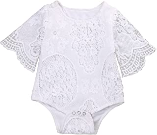 toddler lace ruffle romper