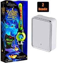 Of Dragons, Fairies, and Wizards Clawtor Hand Held Wand, Green | Blackweb Wall Charger 4.8a White or Black (Bundle 2)