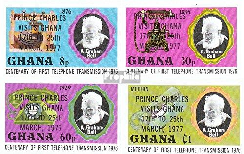 Ghana mer.-no.: 694B-697B (complète.Edition.) 1977 Charles (Timbres pour Les collectionneurs)