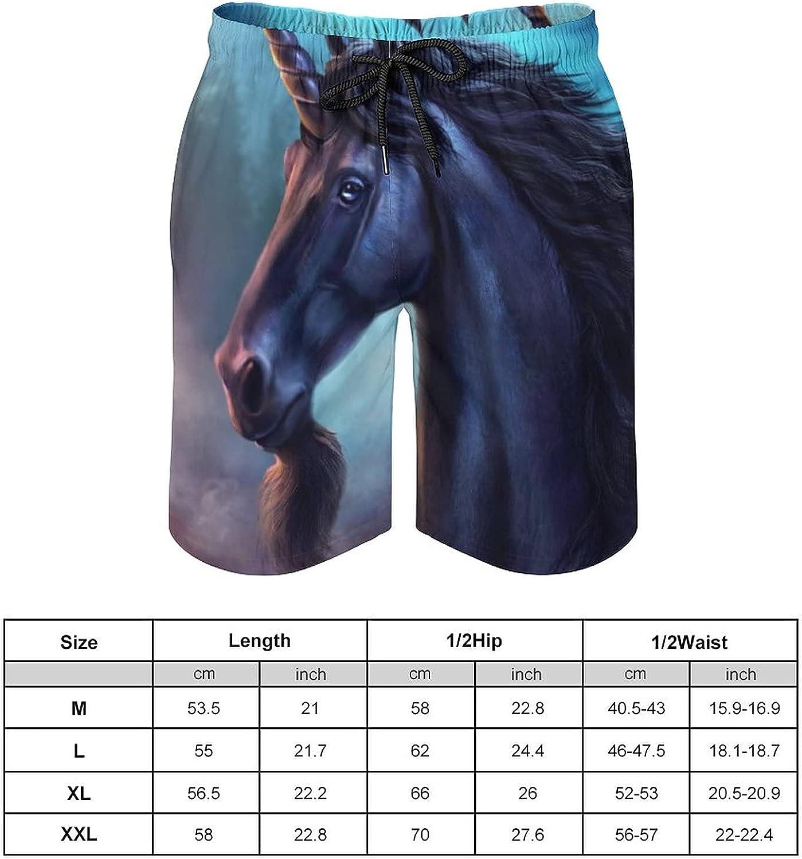 Men Fashion 3D Printed Swim Trunks Quick Dry Beach Shorts with Mesh Lining