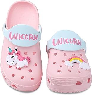 صندل صندوقدار Unicorn برای کودک نوپا ، کفش آب دخترانه پسرانه ، صندل اسلاید باغچه برای کودکان کوچک ، دمپایی ساحلی دوش استخر شنای کودکان