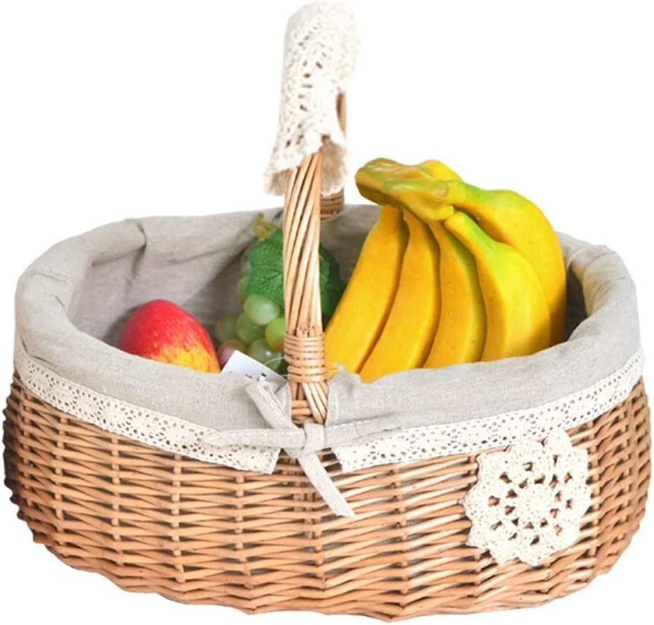 Electric oven Picnic Basket Storage Spasm price F Rattan Fruit Genuine