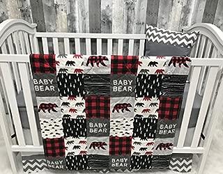 Baby Boy/Girl Chevron, Baby Bedding, Woodlands, Baby Bear, Buffalo Plaid, Neutral, Crib Bedding, Nursery Room, Babylooms