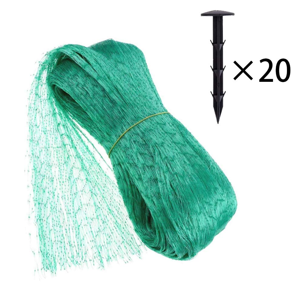 Pond /& Pool Netting Kit Protects Fish from Cats 2 x 2CM Square Mesh Size Trellis Netting Anti-Birds Deer Include 8pcs Stakes Bofum 4 x 6M Bird Netting Poultry Aviary Netting