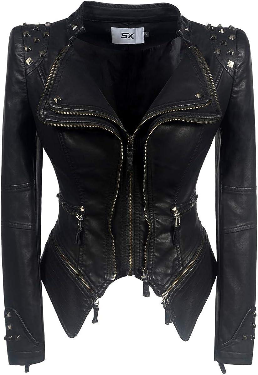 Wancheng Global Trade Women's Restoring Ancient Ways Classic Denim Jacket Rivet Lapel Swallow Tail Locomotive Jacket