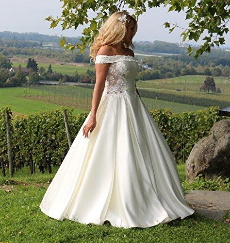 Luxus Brautkleid Hochzeitskleid Weiß nach Maß - 3
