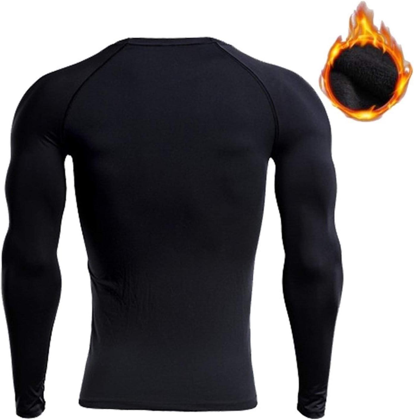 QWERBAM Winter Men Thick Thermal Underwear Keep Warm Men (Color : R Black Red, Size : XXL.)