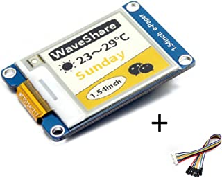 waveshare Tri-color 1.54inch E-Ink Display Module Three-color Yellow/Black/White 152x152 Arduino E-paper Screen Panel SPI Interface Support 2B/3B/Zero/Zero W