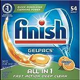 Finish Dishwasher Detergent Soap, All In 1 Gel Pacs, Orange Blossom, 60 Tablets