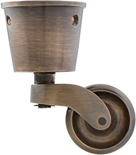 Solid Brass Round-Cup Caster with 1 7/16