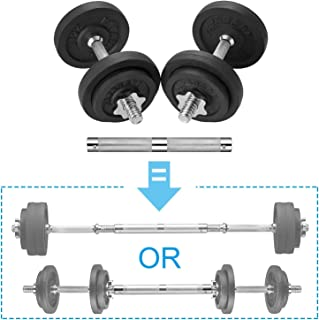 papababe Adjustable Dumbbells Cast Iron with Connector 40, 50, 65, 105, to 200 LBS, Adjustable Dumbbell Sets, Lifting Dumb...