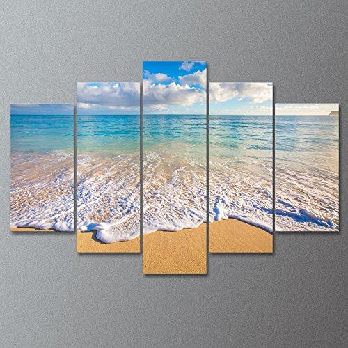 Royllent アートパネル「きれいな海」5パネルセット キャンバス絵画(フレーム・木枠付きの完成品)
